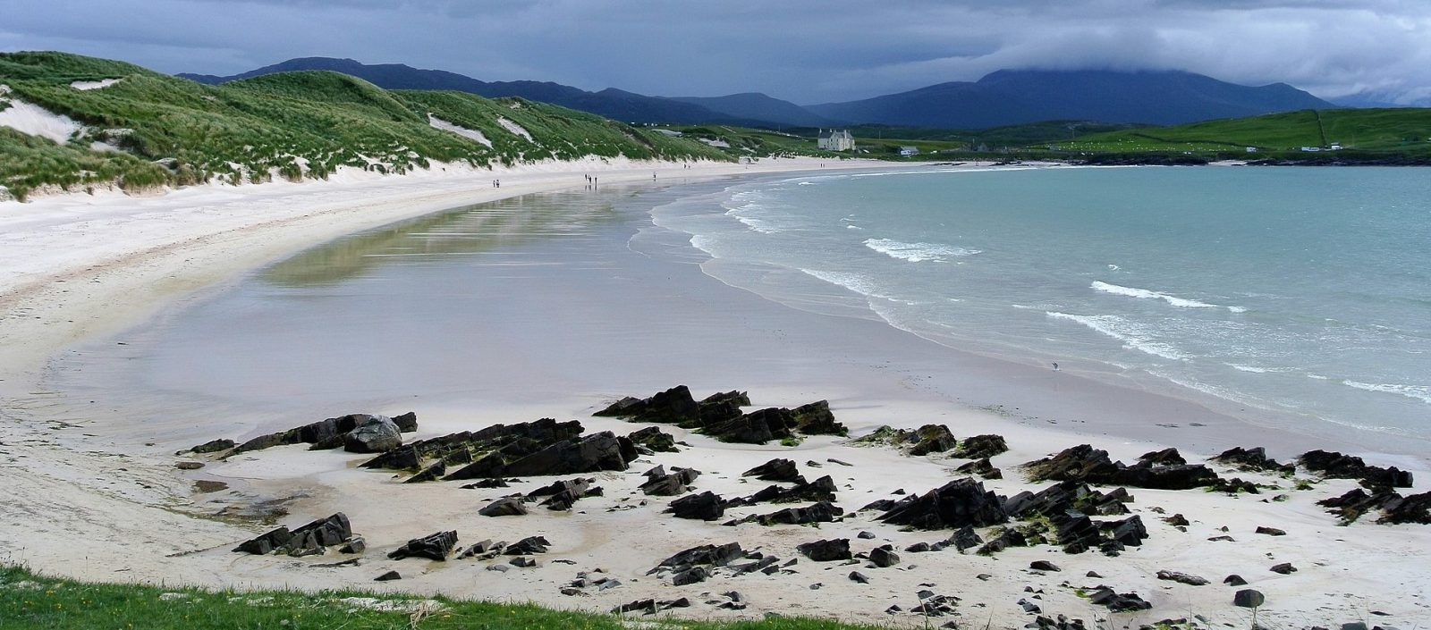 Beach along the NC500 in Scotland