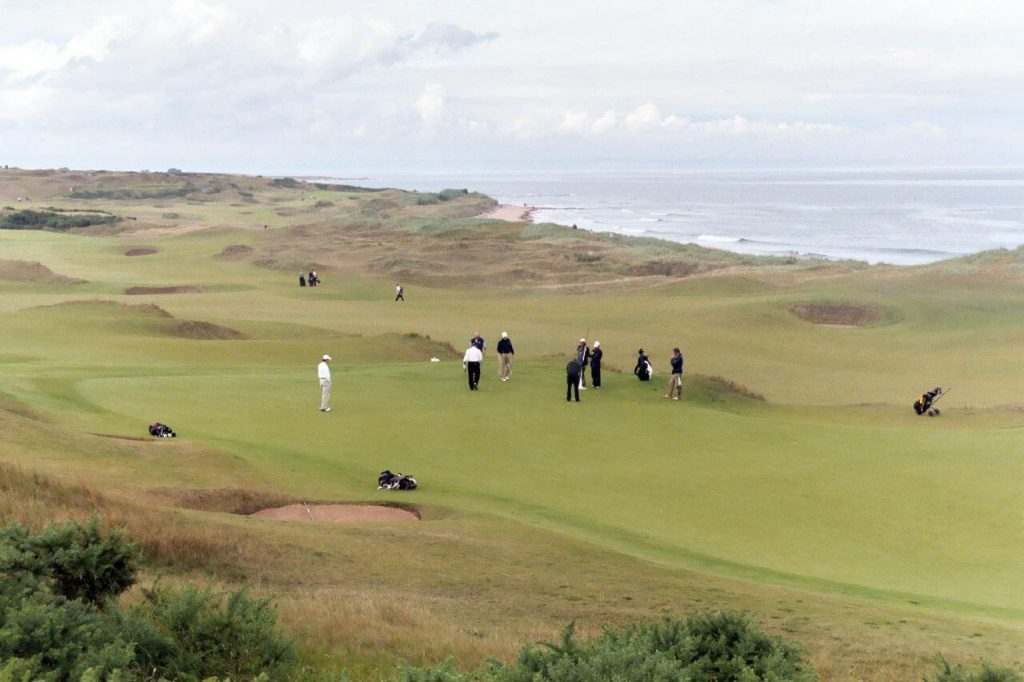 Kingsbarns golf course in Scotland