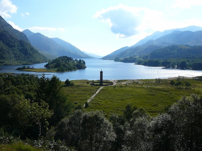 Glenfinnan and Loch Shiel - Sotland in spring and summer