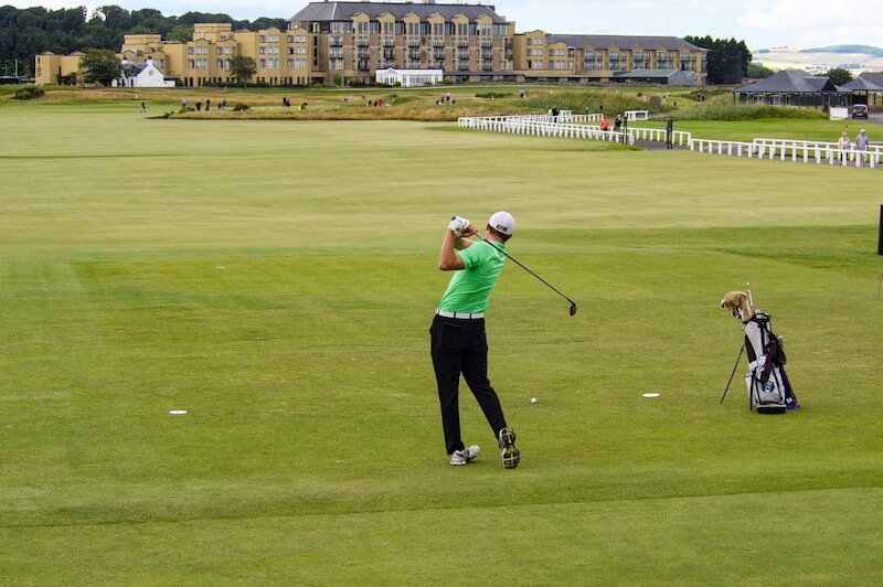 Golfing at St Andrews in Scotland during spring and summer
