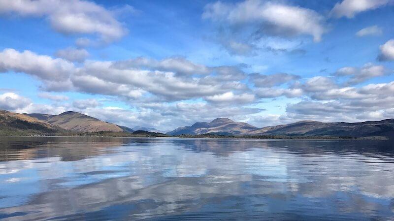 Landscape shot of Loch Lomond - Scotland in spring and summer