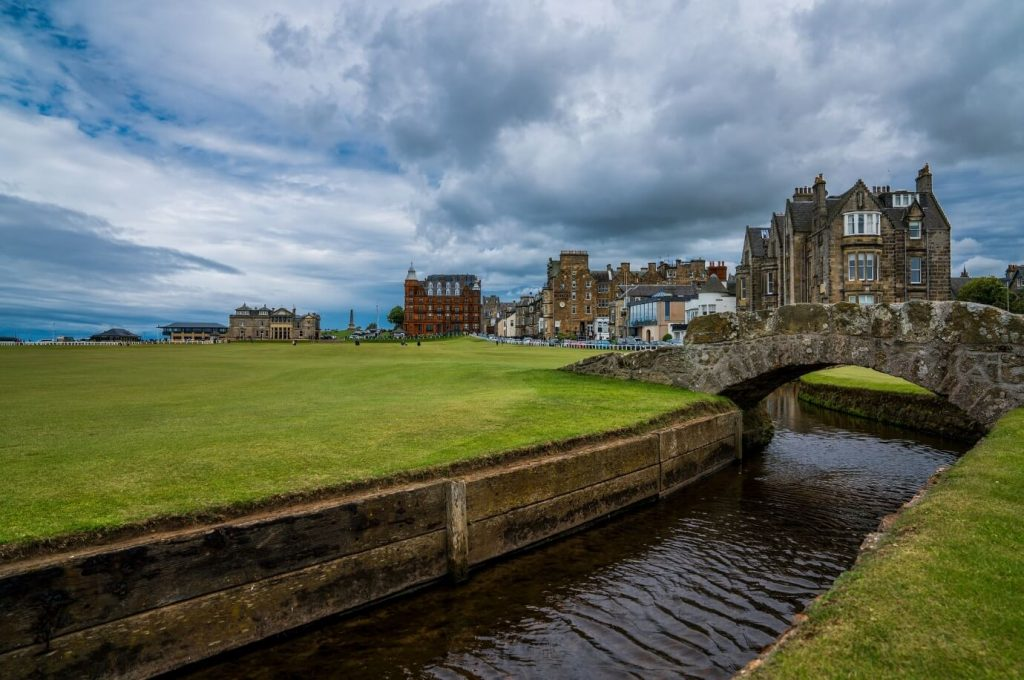 St Andrews golf course in Scotland