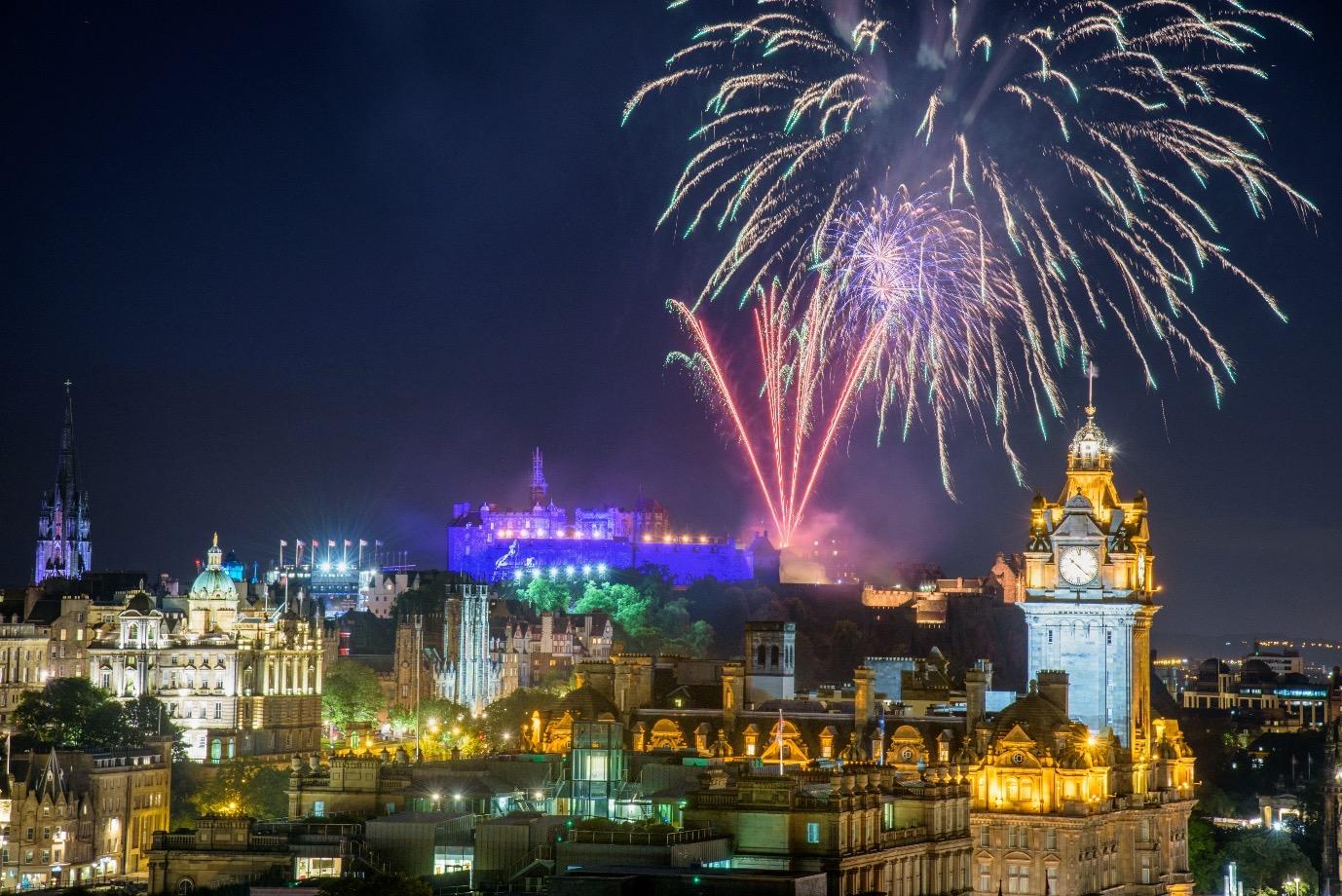 Fireworks at the Edinburgh Festival