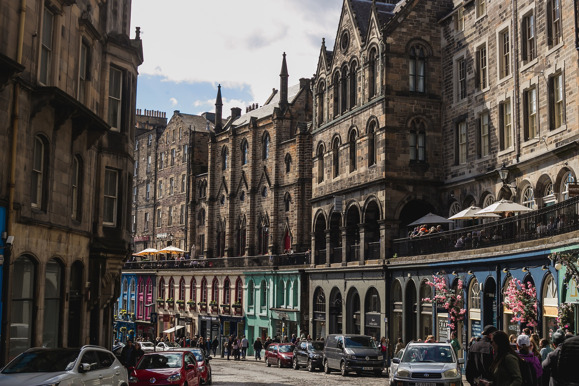 The real Diagon Alley? Victoria Street in Edinburgh is a Harry Potter location in Scotland   Inspiring Travel Scotland