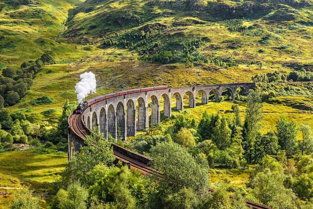 Visit Scotland instead of England - Glenfinnan Viaduct from Harry Potter