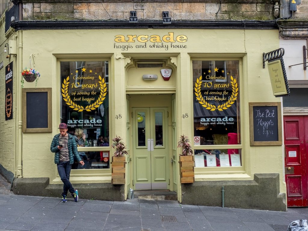 Arcade haggis and whisky house