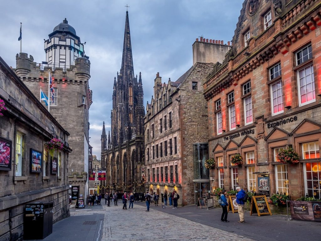 A section of Edinburgh's Royal Mile