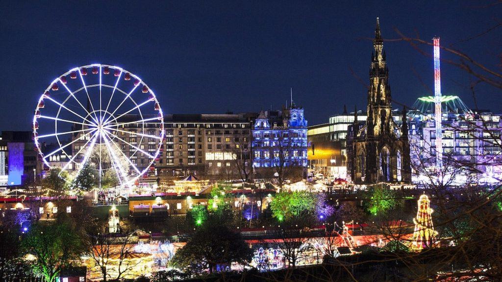 Edinburgh Christmas Market Scotland