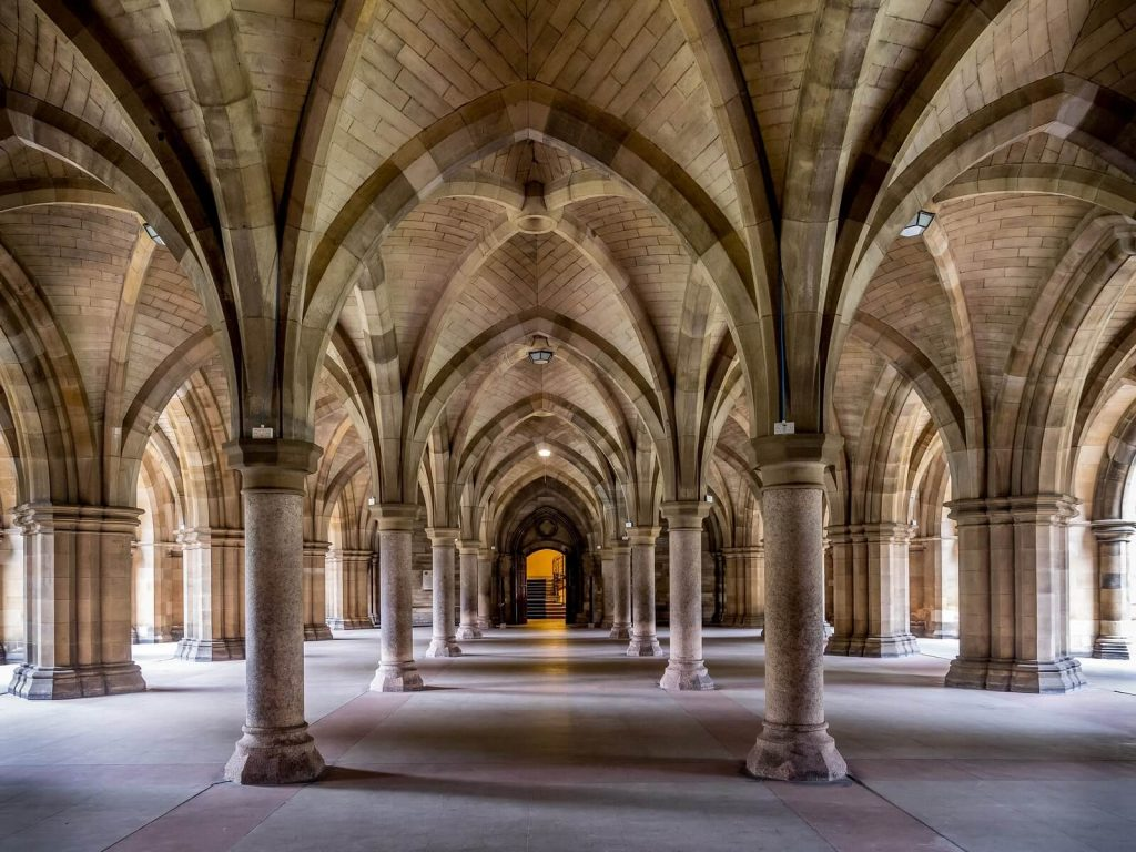 Cloisters in the University of Glasgow