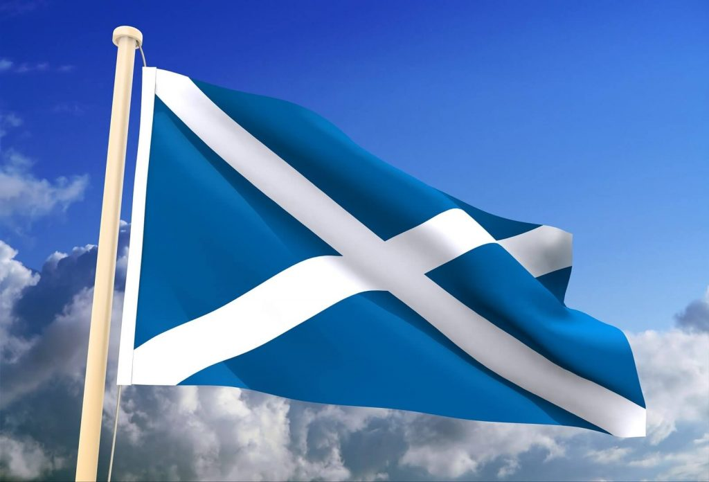 The saltire, Scotland's national flag - St Andrew's day