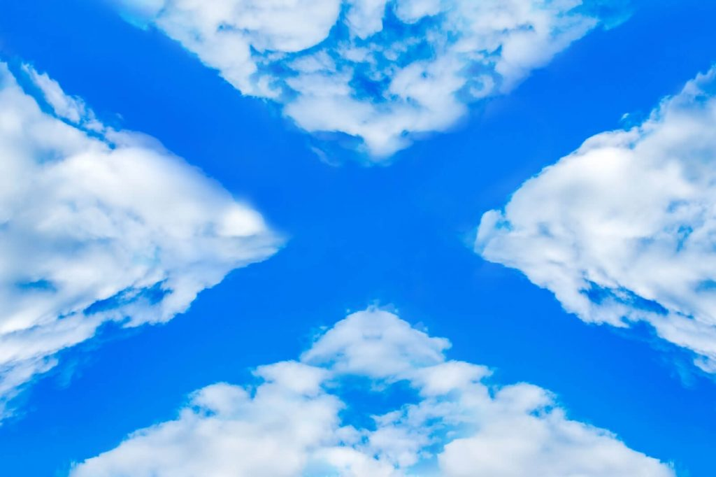 Saltire in the sky - St Andrew's Day in Scotland