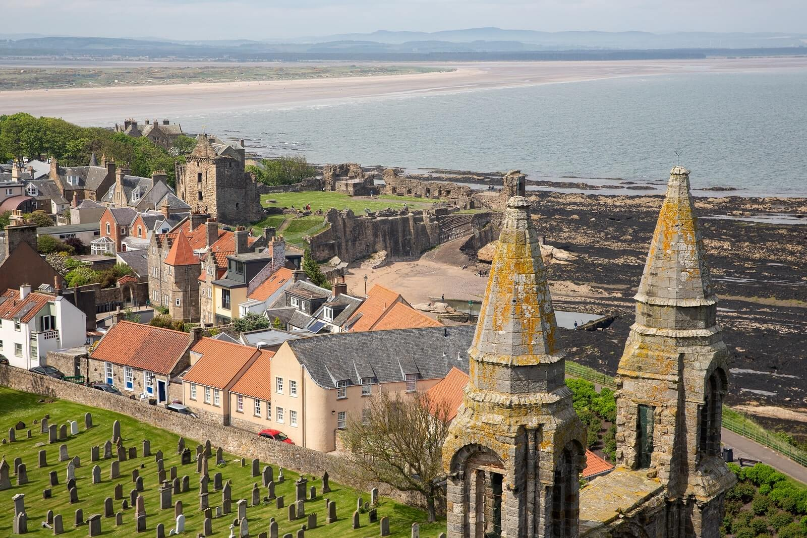 The town of St Andrews, in Fife