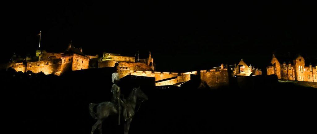 Edinburgh Castle in Scotland. Hogmanay - New Year