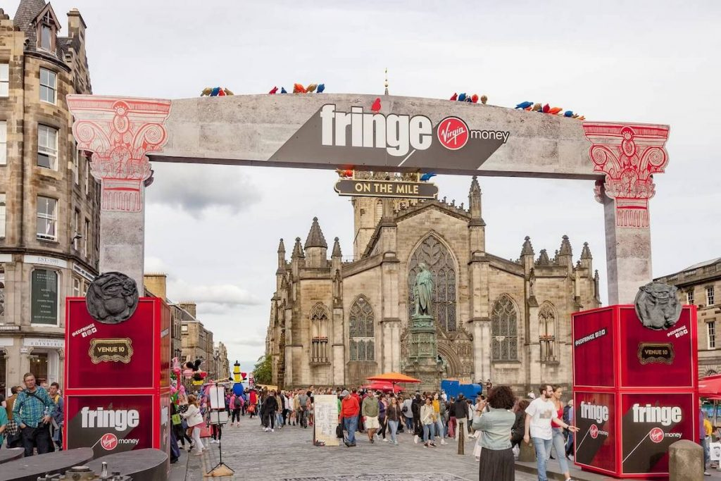 The Fringe festival 2018 on the Royal Mile in Edinburgh
