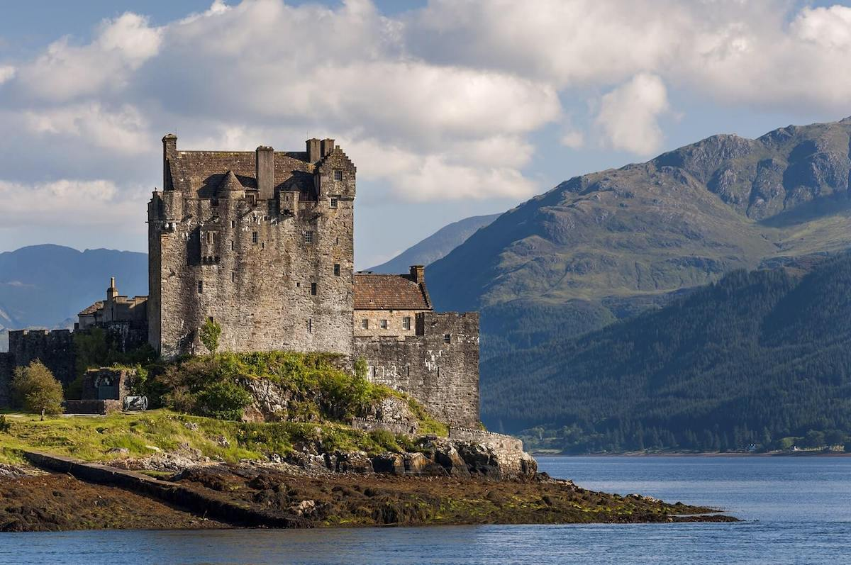 Eilean Donan Castle in the Highlands of Scotland