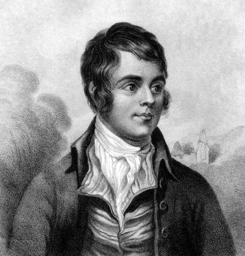 Portrait of Robert Burns, Scotland's national poet