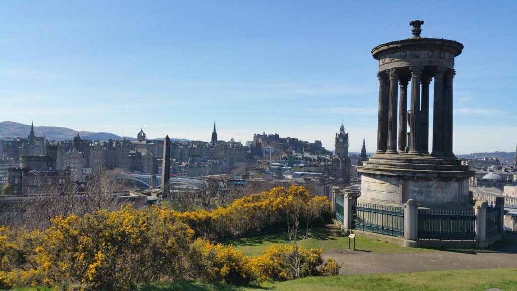 Looking out from Edinburgh's Calton Hill