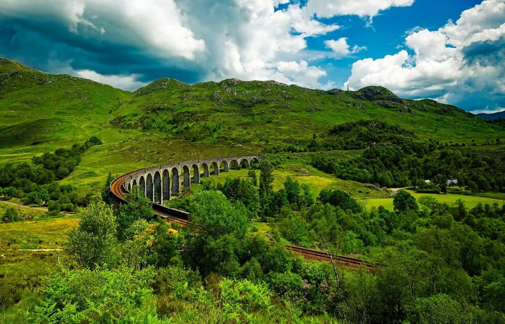 Glenfinnan Viaduct, in the Scottish Highlands