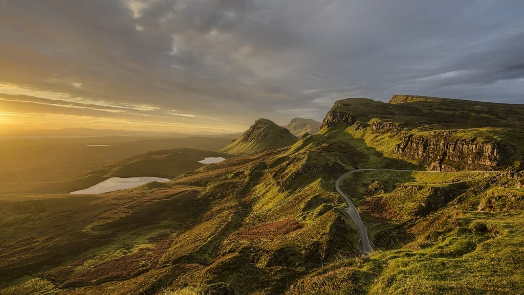A view from the Quiraing, Skye, in the Scottish Highlands
