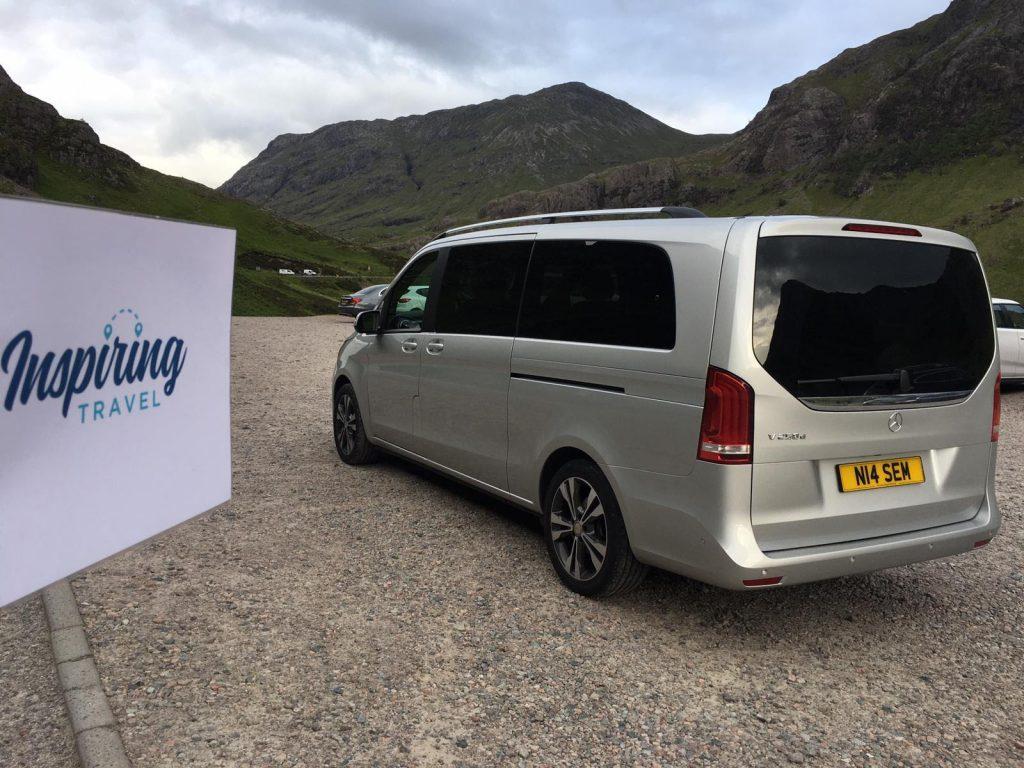 A modern, spacious van for a custom tour around Scotland with Inspiring Travel Scotland