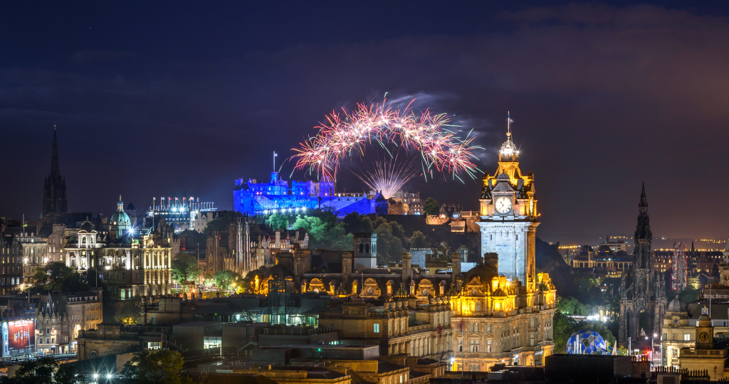 Fireworks marking the end of last year's Edinburgh Festival