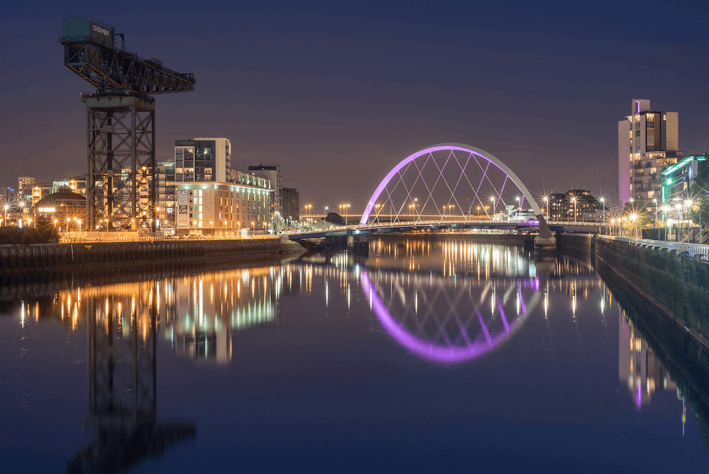 Glasgow, on the River Clyde