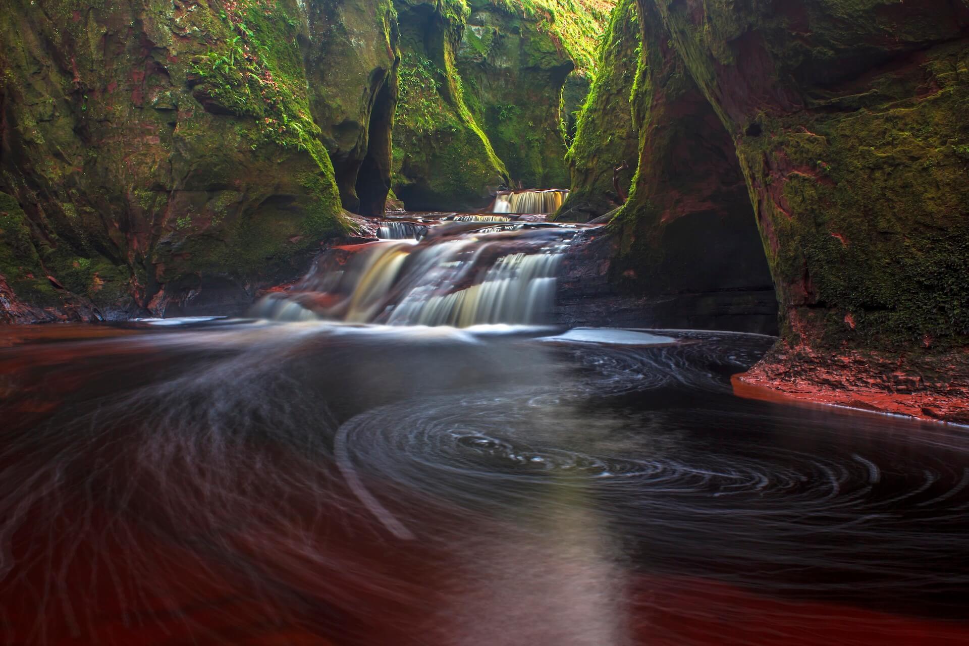 Finnich Glen Waterfall